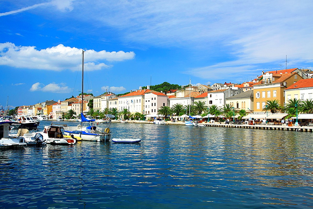 Marina in Mali Losinj on Cres Island, Croatia