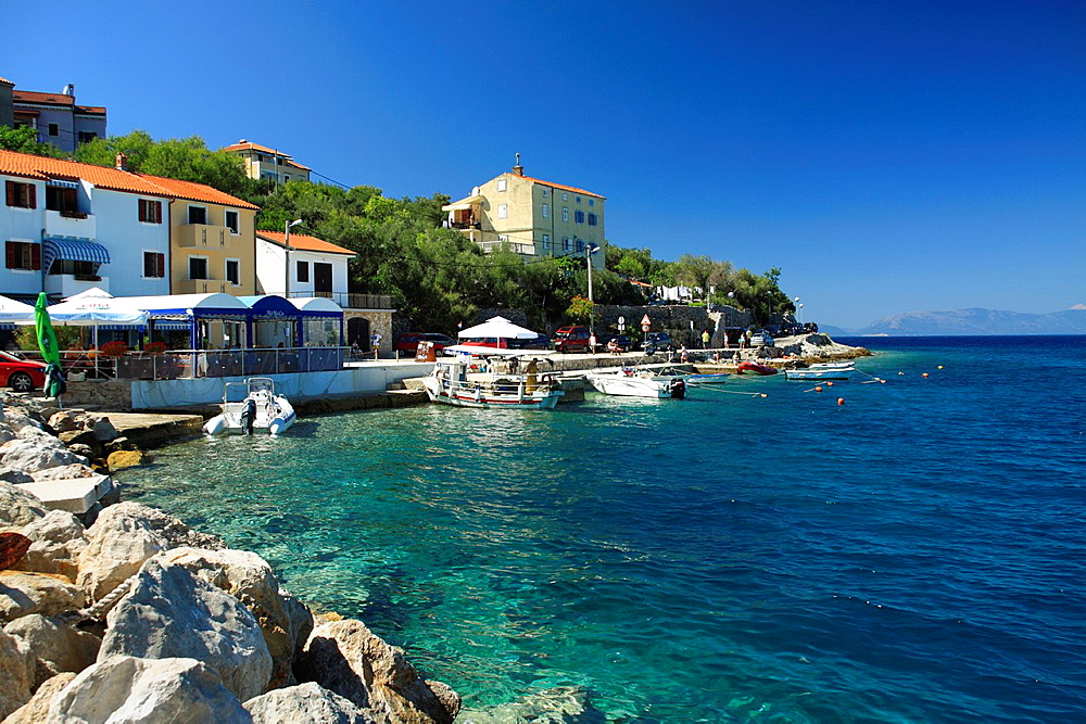 Port in Valun village on Cres Island, Croatia