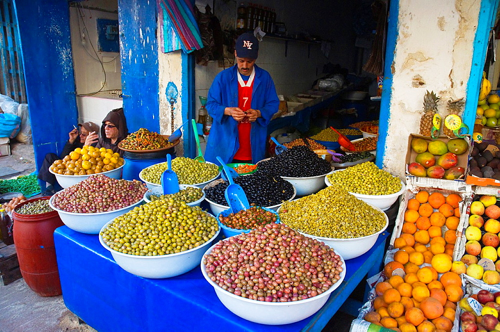 Olives in Mellah the Jewish quarter of Essaouira central Morocco northern Africa