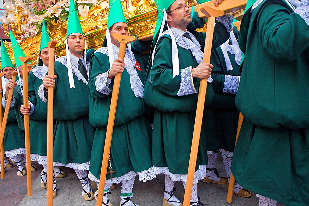 Penitents Palm Sunday processionCofradia del Santisimo Cristo de la Esperanza Holy Week Murcia Spain
