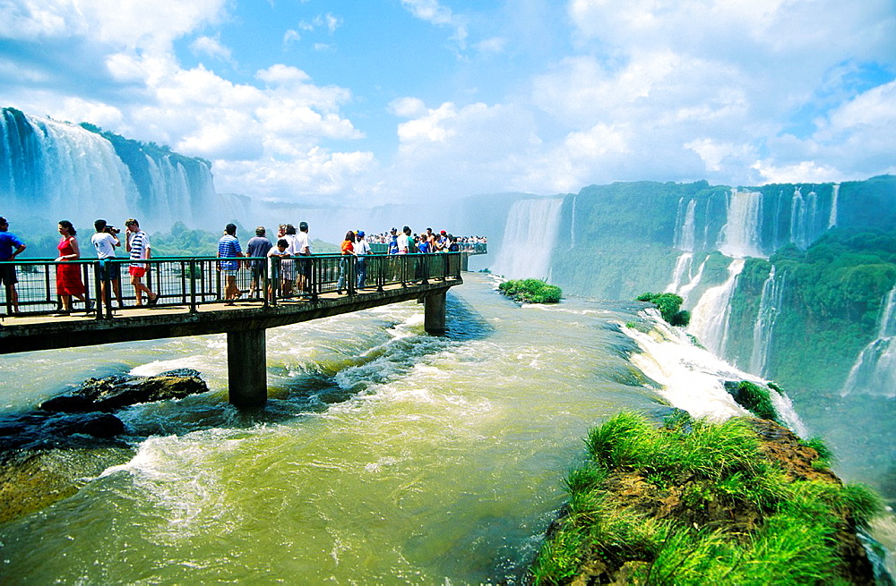 Iguazu Falls on the Brazil Argentina Paraguay border South America - 817-274443
