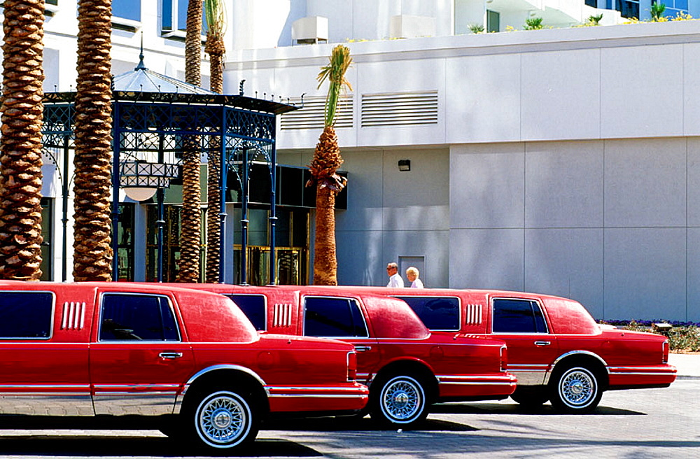 Limos by casino, Las Vegas, Nevada, USA