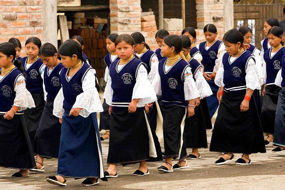 Ecuadorian School Children, Imbabura Province, Ecuador