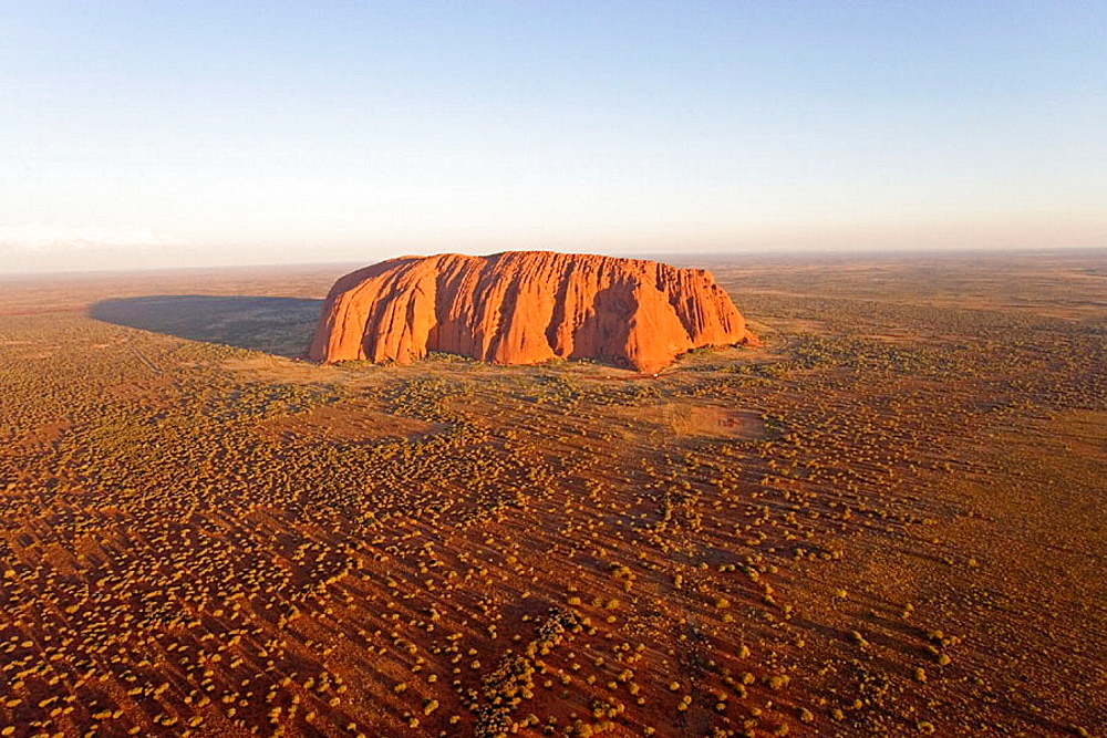 Aerial photography at dusk, Uluru Kata Tjuta National Park (Ayers Rock)