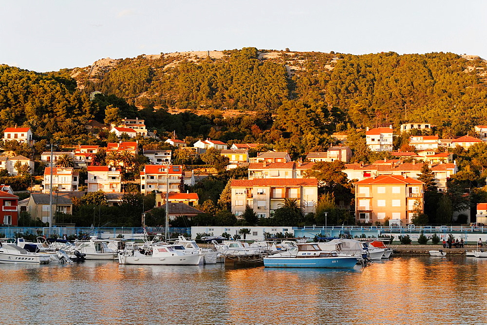 Harbor in Rab Town, Croatia