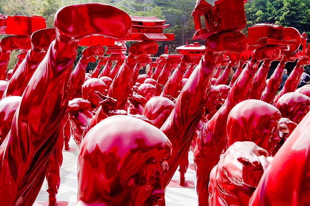 China, Guangdong, Foshan, Dragon Kiln Nanfeng art center Bruce Lee