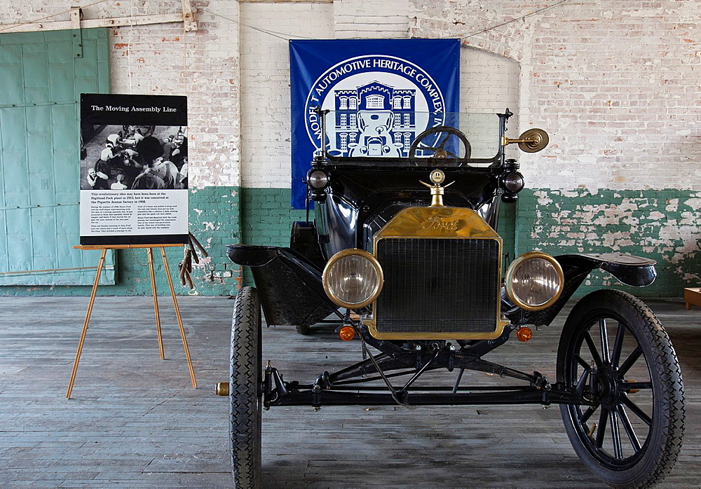 Detroit, Michigan, The Ford Piquette Avenue Plant, where the first Ford Model T was built in 1908 The building is now a museum called the Model T Automotive Heritage Complex T-Plex It houses many Model Ts and other cars of that era, and is being restor. D