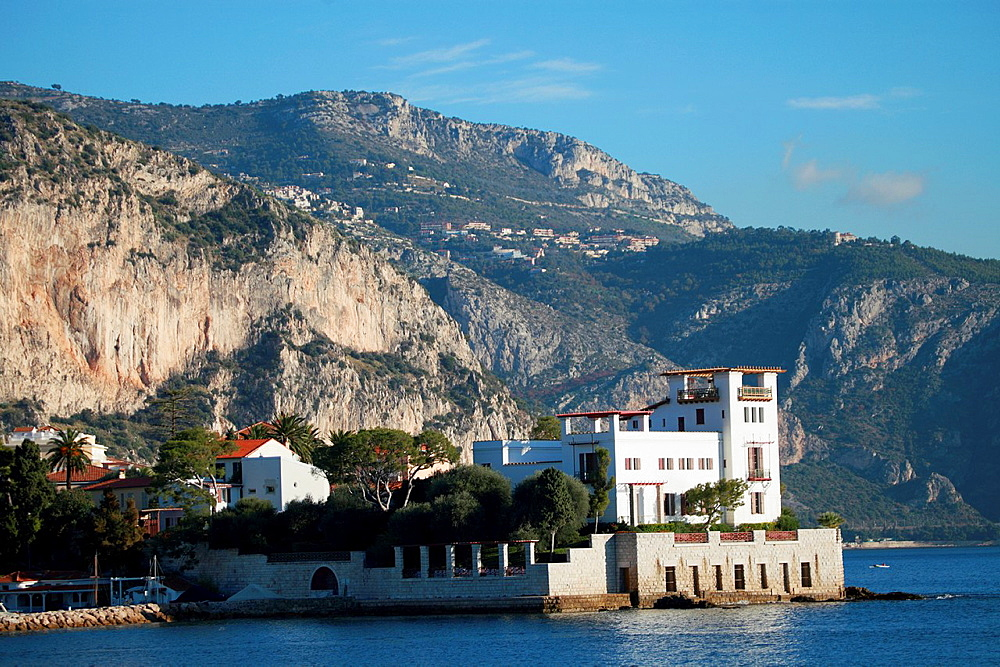The Villa Kerylos in the city of Beaulieu sur mer, Alpes-Maritimes, French Riviera, Provence-Alpes-Cote dAzur, France