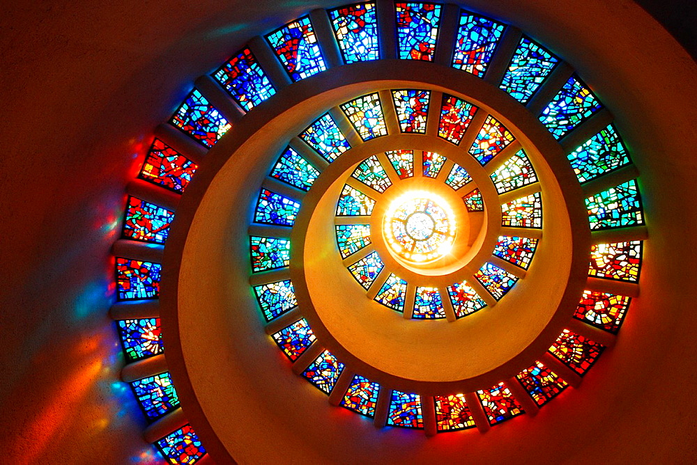 Spiral Window, Thanksgiving Chapel, Dallas, Texas - 817-280283