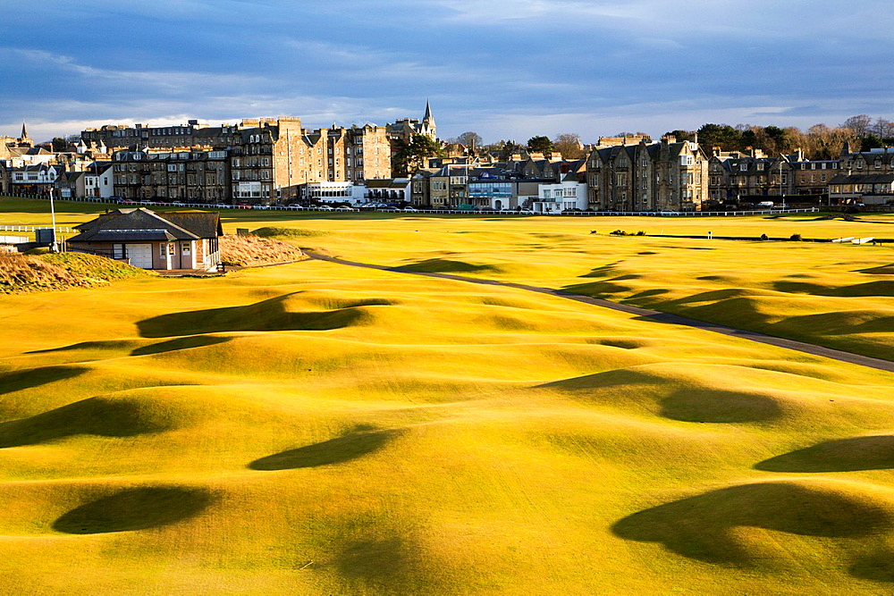 St Andrews from the St Andrews Links Clubhouse Fife Scotland