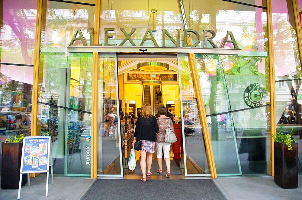 Alexandra Books booshop Andrassy Ut boulevard Budapest Hungary Europe