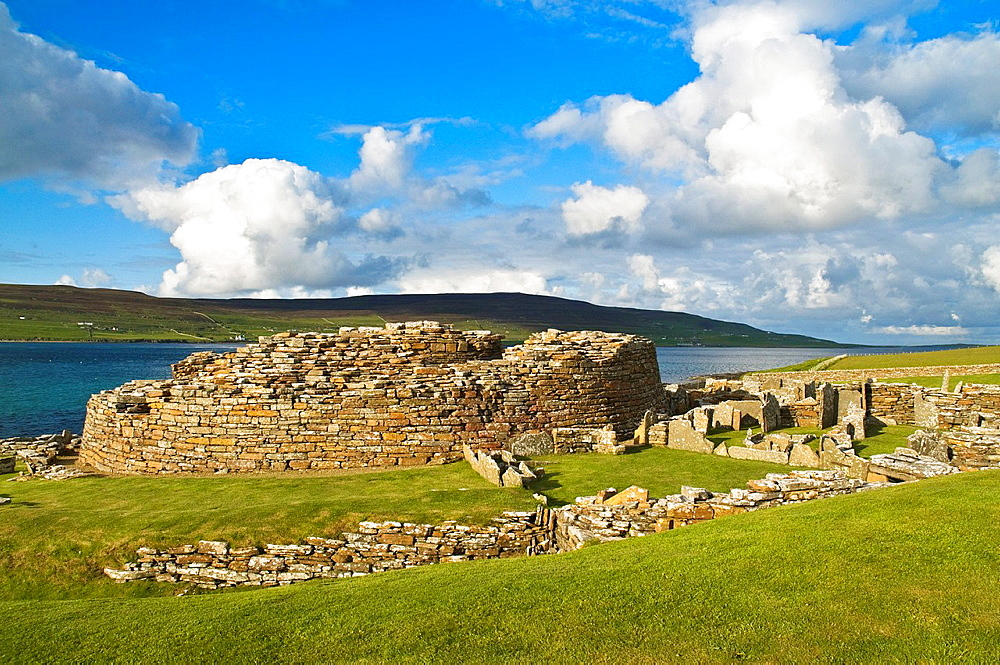 Gurness EVIE ORKNEY Iron age broch defensive fortifications ruined settlement