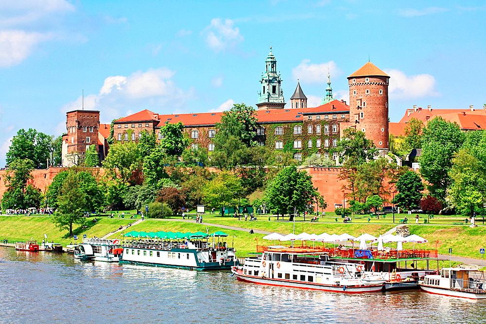 Wawel Castle with a view on Wisla river