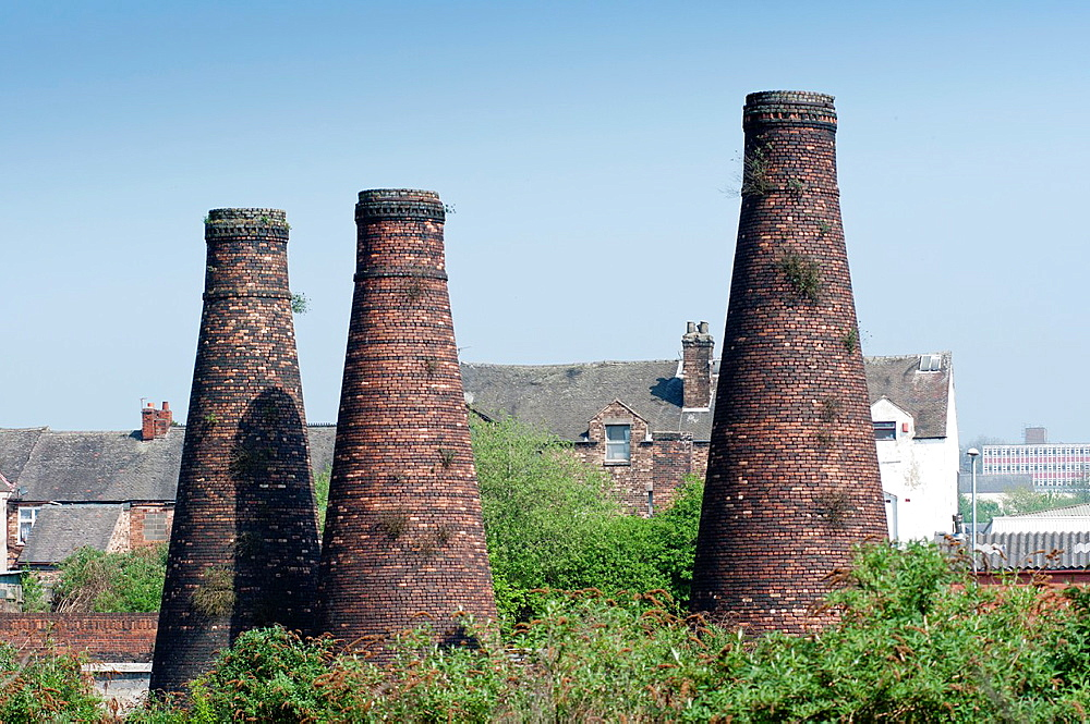 Acme Marls Pottery Bottle Kilns at Burslem Stoke on Trent, England