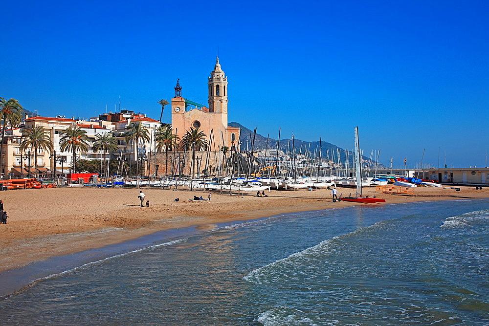 Spain, Catalonia, Tarragona, Costa Daurada, Sitges