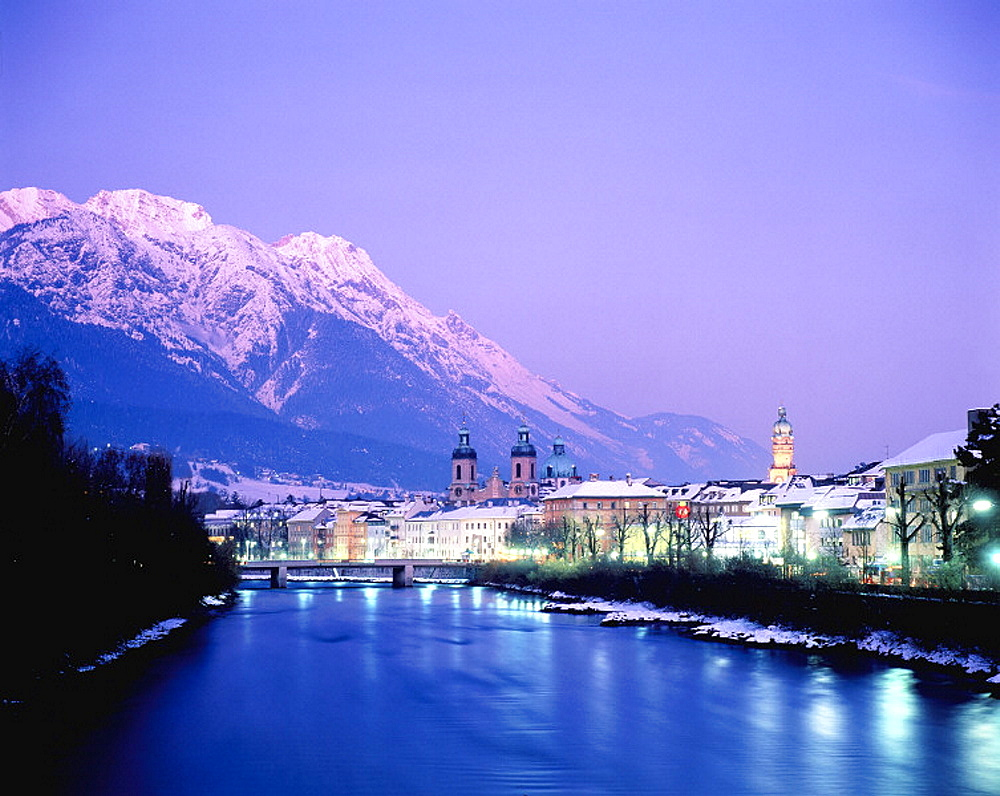 Innsbruck and Alps, Tyrol, Austria