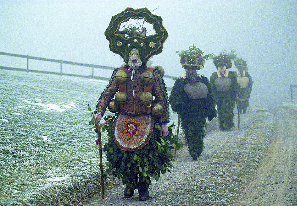 Appenzell, bells, costume, custom, folklore, headgear, santa claus, mask, New Years Eve, Eastern Switzerland, Europ. Appenzell, bells, costume, custom, folklore, headgear, santa claus, mask, New Years Eve, Eastern Switzerland, Europ
