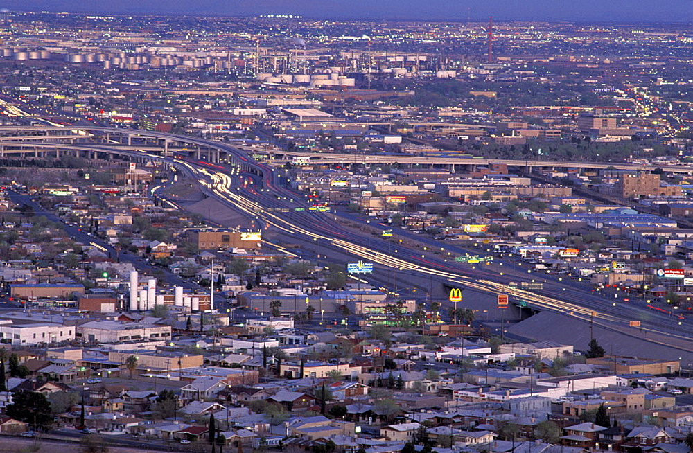 El Paso, Texas, USA, America, United States, city, lights, night. El Paso, Texas, USA, America, United States, city, lights, night
