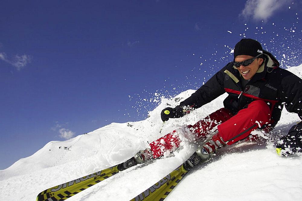 Skiing, ski, Carving, man, fun, joke, holidays, vacation, snow, winter sports, winter, sports, Alps, mountains. Skiing, ski, Carving, man, fun, joke, holidays, vacation, snow, winter sports, winter, sports, Alps, mountains
