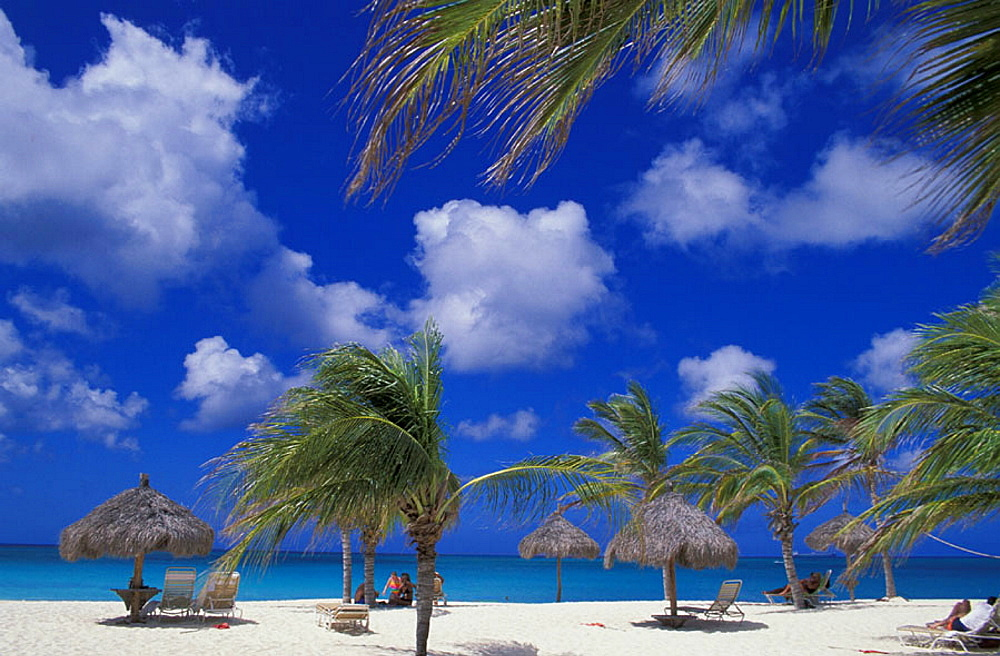 palm beach, beach, seashore, umbrellas, sea, tourist, vacation, holidays, Eagle Beach, Aruba, Netherlands Antilles, at. palm beach, beach, seashore, umbrellas, sea, tourist, vacation, holidays, Eagle Beach, Aruba, Netherlands Antilles, at