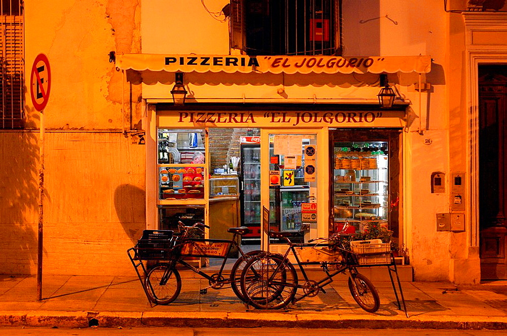 town, city, pavement, pizzeria, store, loading, business, trade, bicycles, at night, night, Plaza Dorrego, San Telmo, . town, city, pavement, pizzeria, store, loading, business, trade, bicycles, at night, night, Plaza Dorrego, San Telmo,