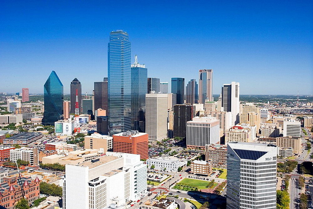 USA, America, United States, North America, Texas, Dallas, town, city, skyline, overview. USA, America, United States, North America, Texas, Dallas, town, city, skyline, overview - 817-297157