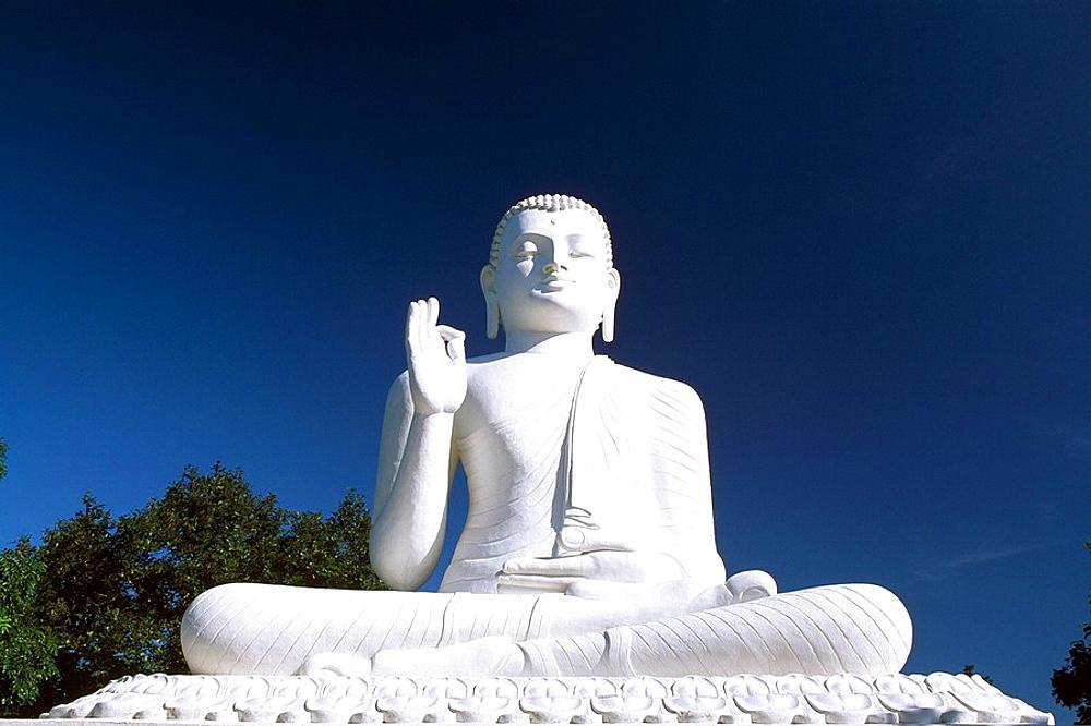 Sri Lanka, Asia, Buddha Statue, Mihintale, Asia, Buddhism, Travel, Religion, Statue, blue sky, white, culture. Sri Lanka, Asia, Buddha Statue, Mihintale, Asia, Buddhism, Travel, Religion, Statue, blue sky, white, culture