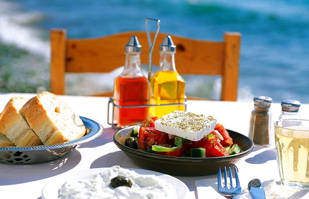 Greece, Europe, Greek salad, Cyclades, Europe, island, Crete, travel, tourism, Corfu island, Zakynthos, Rhodos, Santor. Greece, Europe, Greek salad, Cyclades, Europe, island, Crete, travel, tourism, Corfu island, Zakynthos, Rhodos, Santor - 817-299723