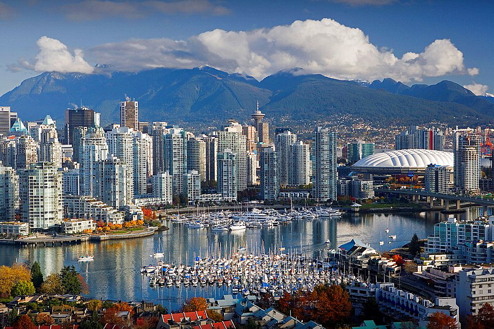 Canada, North America, America, Vancouver City, British Columbia, False Creek, Downtown, North America, skyline, skysc. Canada, North America, America, Vancouver City, British Columbia, False Creek, Downtown, North America, skyline, skysc