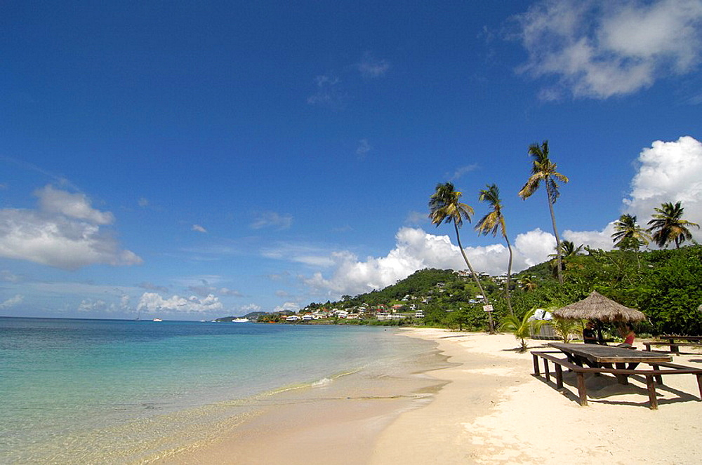 Grenada, Carribean, Beach of Grand Anse, sandy beach, water, ocean, sea, coast, tourists, tourism, holidays, holiday, . Grenada, Carribean, Beach of Grand Anse, sandy beach, water, ocean, sea, coast, tourists, tourism, holidays, holiday,