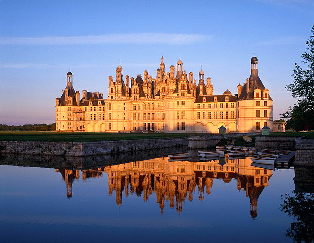 France, Europe, Chateau Chambord, Loire Valley, Cher, French, Renaissance, historical, architecture, building, exterio. France, Europe, Chateau Chambord, Loire Valley, Cher, French, Renaissance, historical, architecture, building, exterio