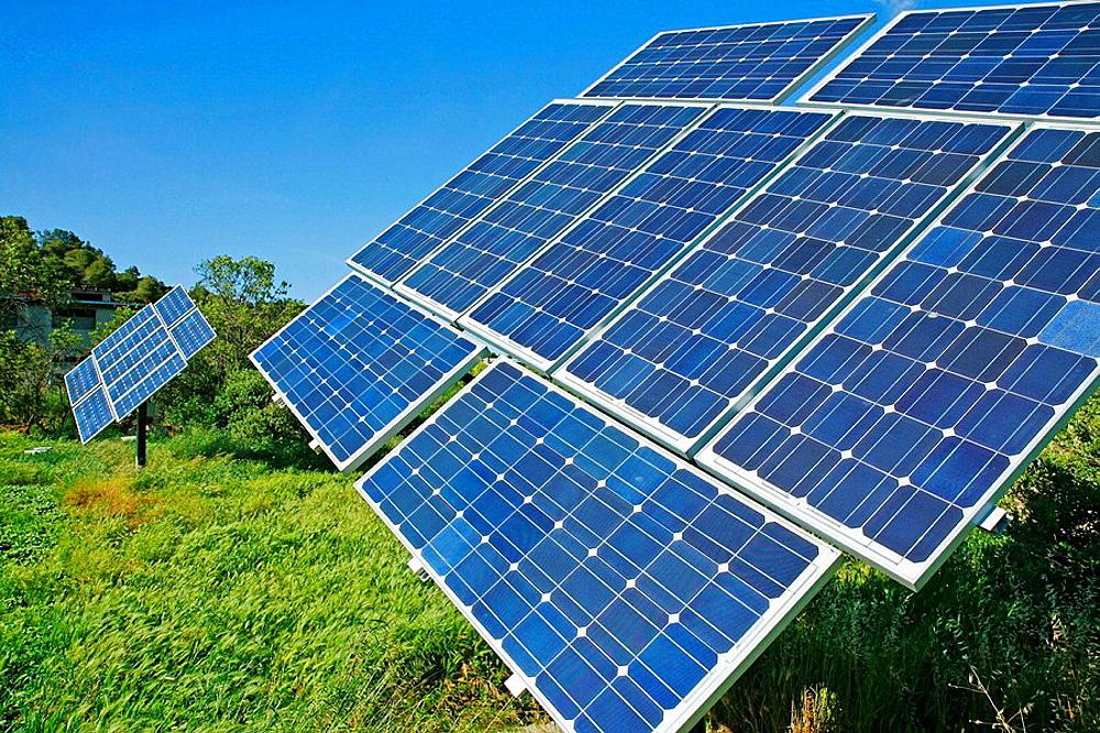 Solar panels, Lleida, Catalonia, Spain