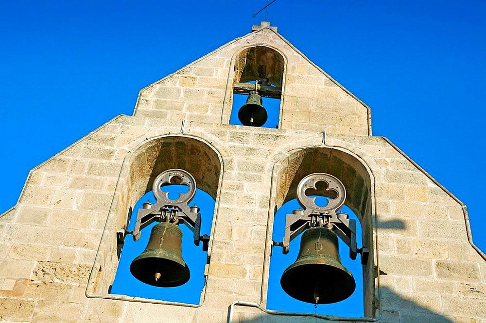 Church tower, Fondarella, Lleida, Spain