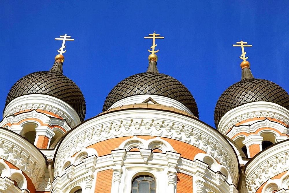 Onion Domes of Alexander Nevski Cathedral Tallinn, Estonia, Baltic States, Northeast Europe. - 817-30789