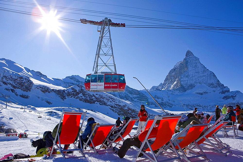 Luftseilbahn zum Kleinen Matterhorn. Luftseilbahn zum Kleinen Matterhorn