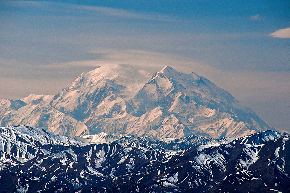 Mount McKinley, Denali National Park, Alaska, North America, USA, mountains, landscape, snow. Mount McKinley, Denali National Park, Alaska, North America, USA, mountains, landscape, snow - 817-309084