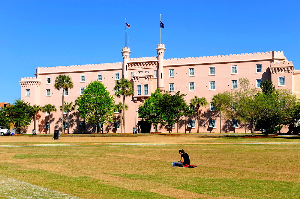 Old Citadel Building in historic downtown Charleston South Carolina SC also knowbn as The South Carolina State Arsenal
