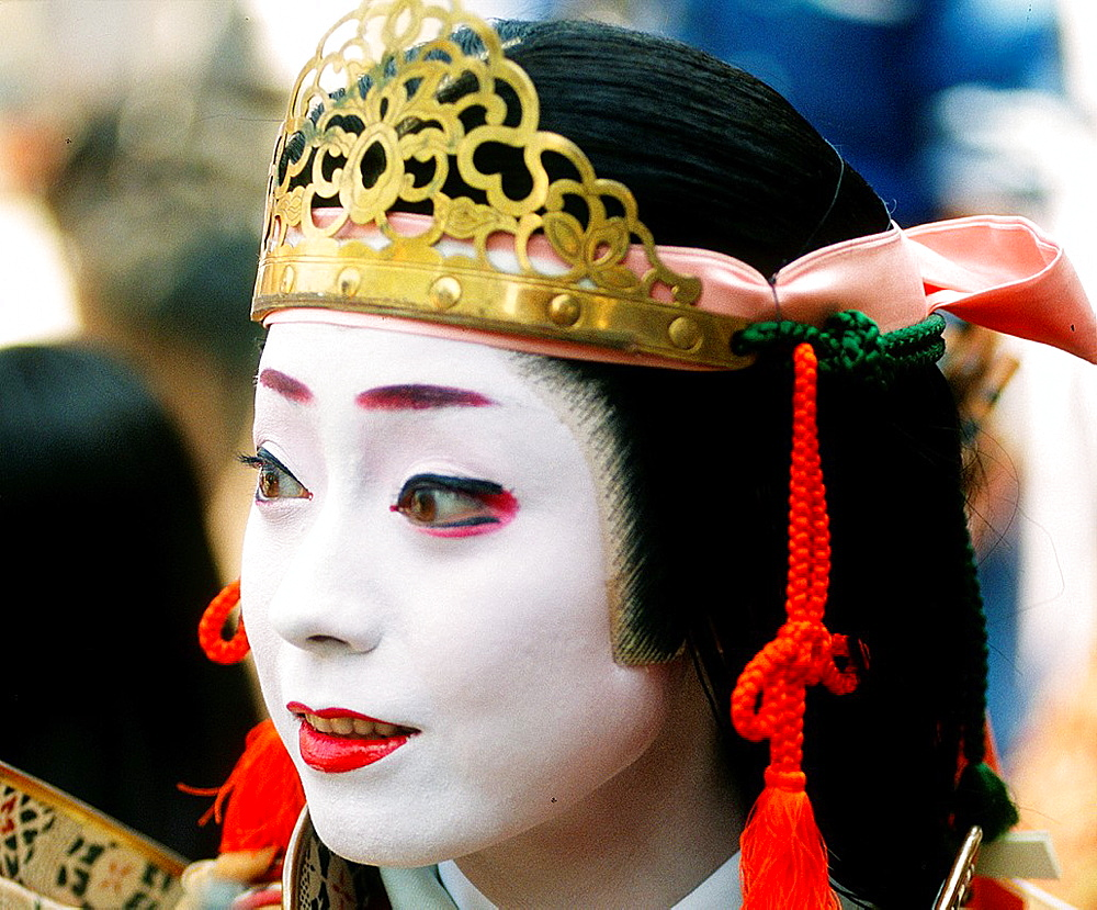 Japan, Kansai, Kyoto, Jidai Matsuri, festival, woman in historical costume, - 817-310068