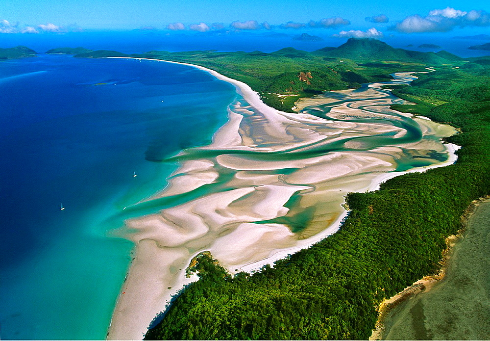 Whitehaven Beach.Whitesunday Islands. Great Barrier Reef. Australia.