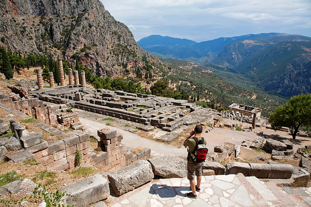 The Temple of Apollo, Delphi Greece