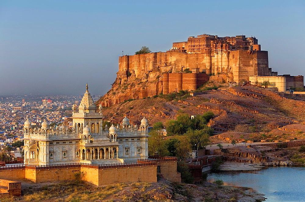 Jaswant Thada and Mehrangarh Fort,Jodhpur, Rajasthan, India