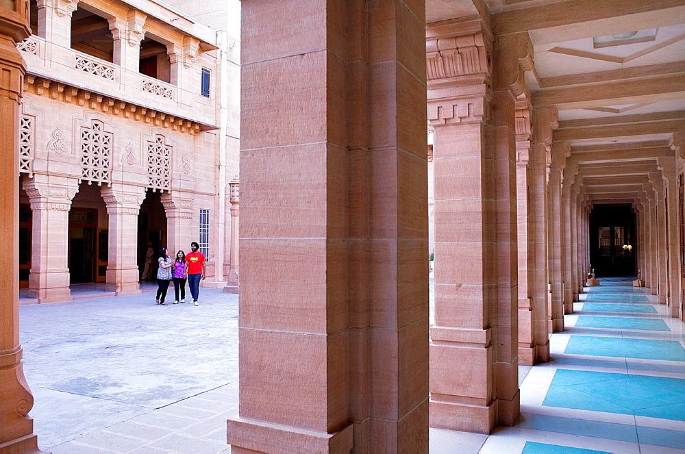 Interior of Umaid Bhawan palace,museum,Jodhpur, Rajasthan, India