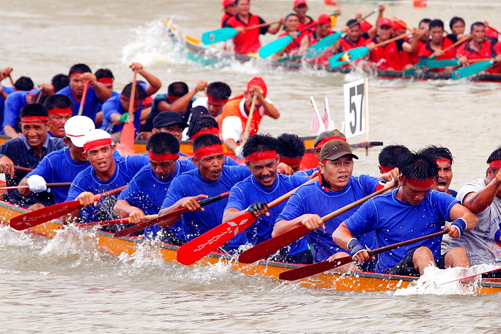 Boat Race, Kuching, sarawak, Malaysia.