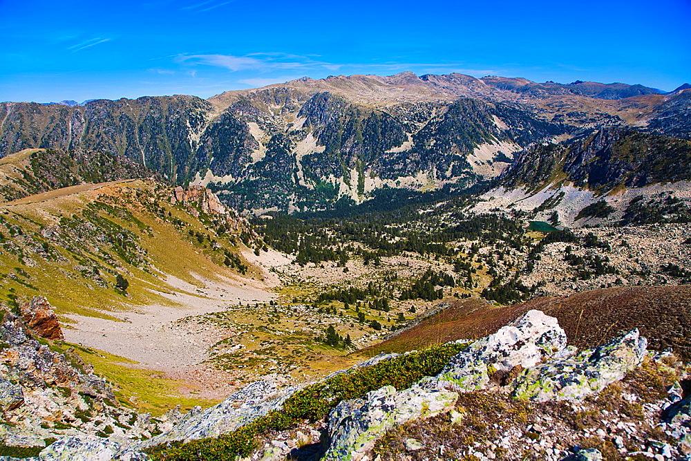 Madriu Valley from Perafita pass. Andorra.