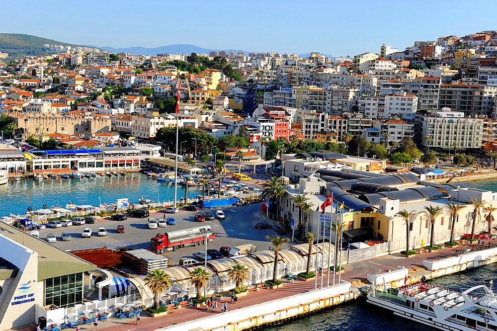 Kusadasi Turkey Harbor Aegean Sea Mediterranean