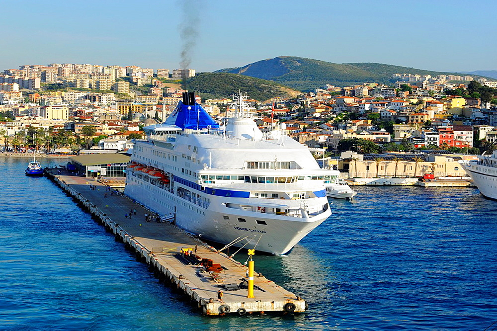 Cruise Ships Kusadasi Turkey Harbor Aegean Sea Mediterranean