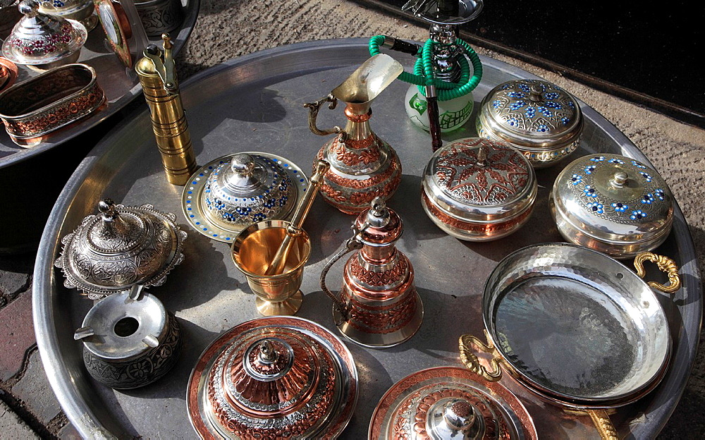 Turkey, Ankara, Ulus, handicraft, metalwork,