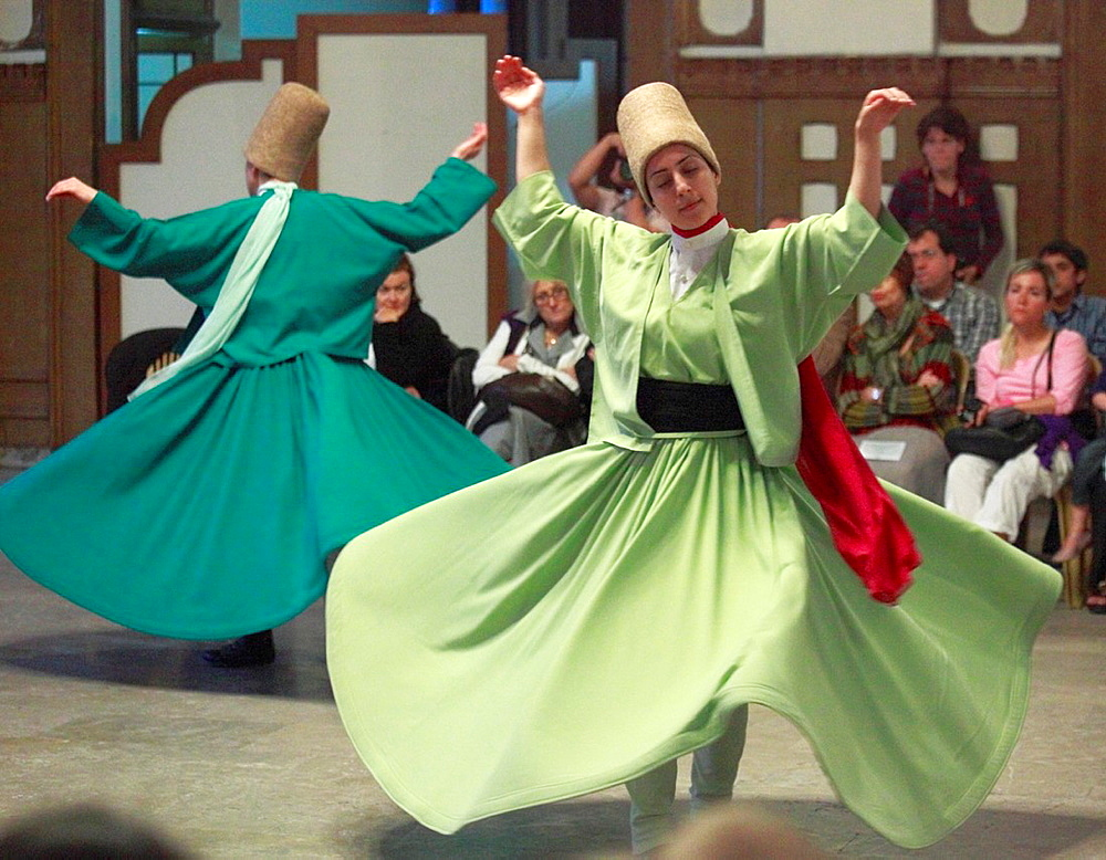 Turkey, Istanbul, whirling dervishes,