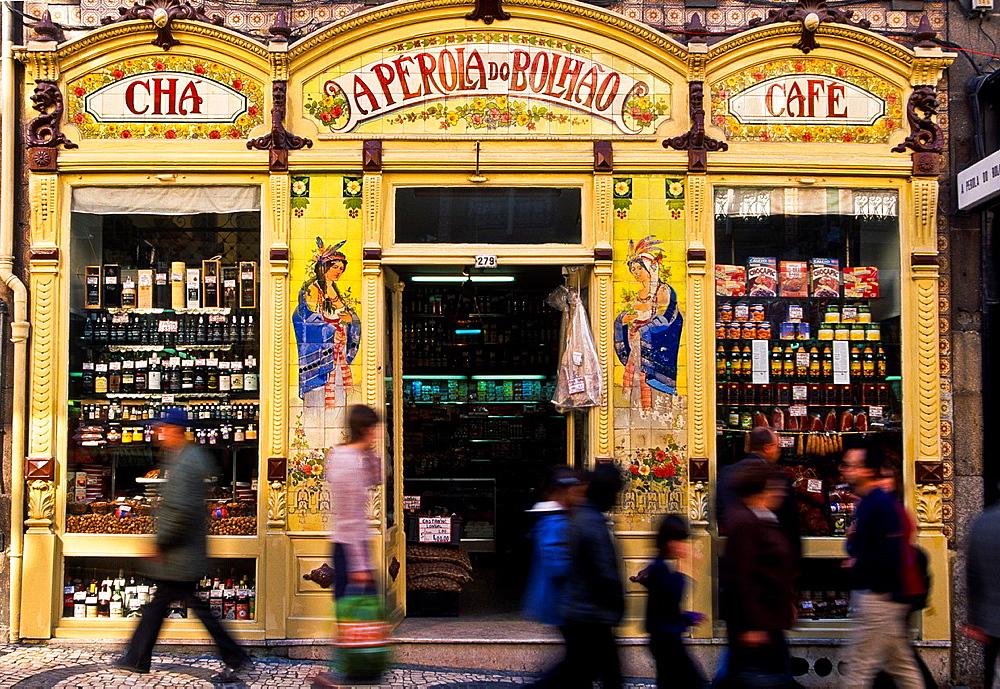Grocer's shop. Porto. Portugal.