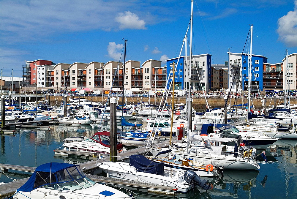 Albert Harbour ST HELIER JERSEY Luxury yachts in St Helier Marina and waterfront flats